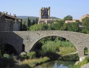 Vieux pont - abbaye de Lagrasse