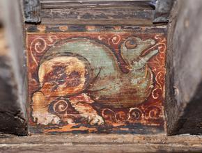 DETAIL PLAFOND PEINT ABBAYE DE LAGRASSE